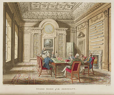 Microcosm Photograph - Board Room Of The Admiralty by British Library