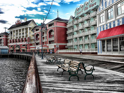 Boardwalk Early Morning Print by Thomas Woolworth