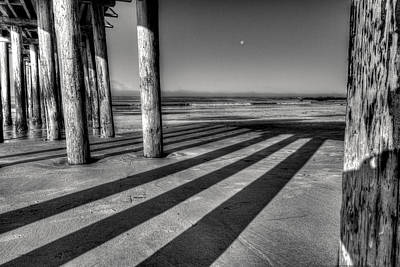 Edition Photograph - Boardwalk Moon by Sally Linden