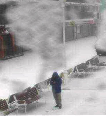 Boardwalk Photograph - Boardwalk Snowstorm Selfie by Bill Swartwout