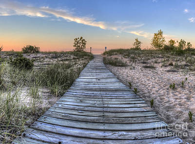 Sunset Photograph - Boardwalk To The Beach by Twenty Two North Photography