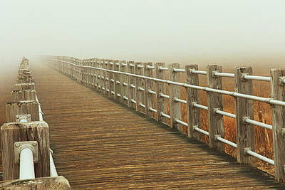 See Fog Photograph - Boardwalk To The Unknown by Karol Livote