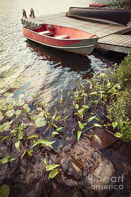 Canoe Photograph - Boat At Dock  by Elena Elisseeva