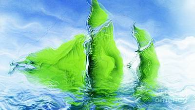 Surrealistic Digital Art - Sea Boat Collections - Naufrage - F11b03 by Variance Collections