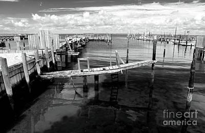 Boat Dock Print by John Rizzuto