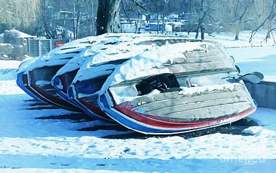 Boat Hire On Holiday Print by Jutta Maria Pusl