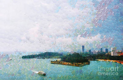 Local Attraction Painting - Boat In Singapore Strait Painting by George Fedin and Magomed Magomedagaev