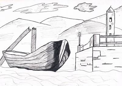 Doubting Drawing - Boat by Archangelus Gallery