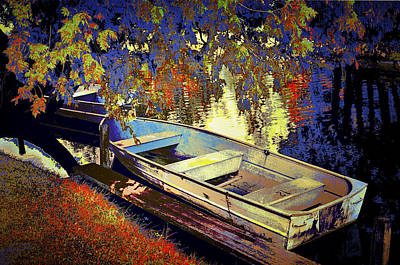 Boat Number 12 Print by Randall Nyhof