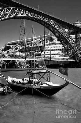 Porto Photograph - Boat On The Douro by John Rizzuto