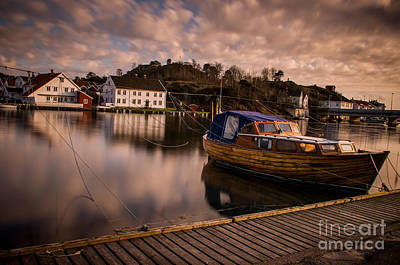 Mandal Photograph - Boat On The River by Mirra Photography