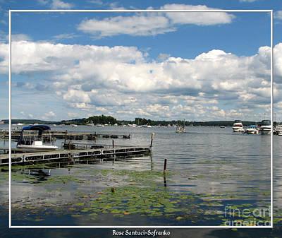 Boat Pier On Lake Ontario Print by Rose Santuci-Sofranko