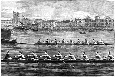 Scull Painting - Boat Race, 1873 by Granger