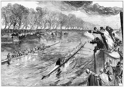 Scull Painting - Boat Race, 1877 by Granger