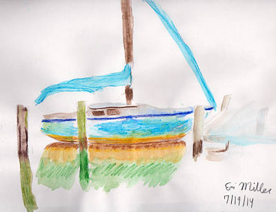 Boat Relaxation Print by Erin Miller