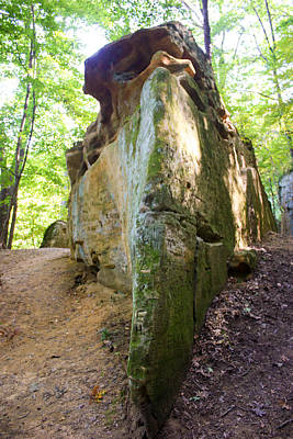 Muscatine Photograph - Boat-shaped Rock Wildcat Den State Park by Cynthia Woods