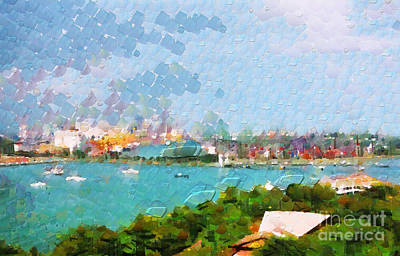 Local Attraction Painting - Boat Traffic In Singapore Painting by George Fedin and Magomed Magomedagaev