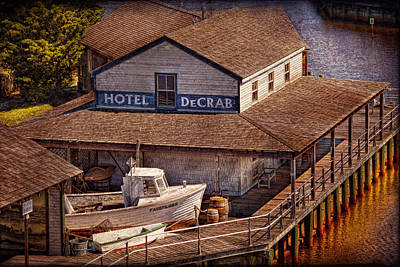Mikesavad Photograph - Boat - Tuckerton Seaport - Hotel Decrab  by Mike Savad