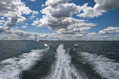 By Thomas Woolworth Photograph - Boat Wake 01 by Thomas Woolworth