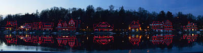 Boathouse At The Waterfront, Schuylkill Print by Panoramic Images