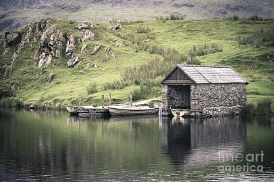 Snowdonia Photograph - Boathouse by Jane Rix