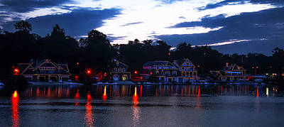 Boathouse Row Along The Schuylkill River At Dawn Print by Bill Cannon
