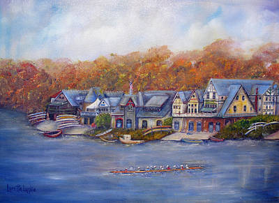 Scull Painting - Boathouse Row In Philadelphia by Loretta Luglio