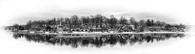 Boathouse Row In Winter Print by Gary Cain