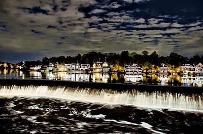 Phila Digital Art - Boathouse Row Lights by Bill Cannon