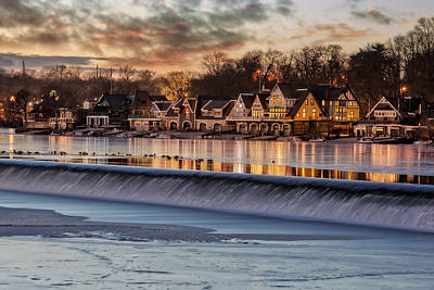 Boathouse Row Philadelphia Pa Print by Susan Candelario