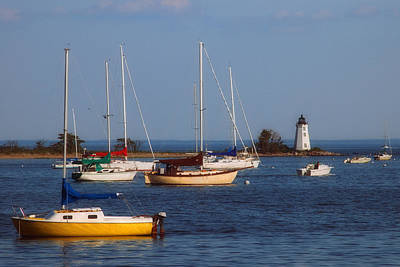 Boating On Long Island Sound Print by Joann Vitali