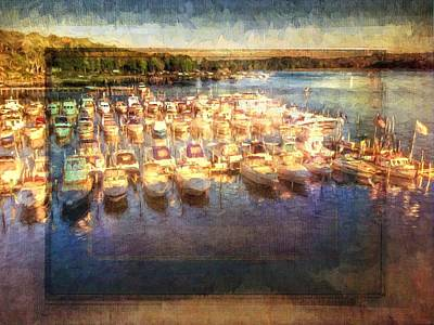 Boats All Moored Print by Alice Gipson
