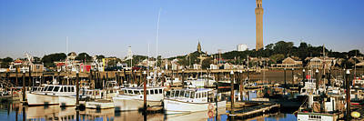 Cape Cod Photograph - Boats At A Harbor, Cape Cod, Barnstable by Panoramic Images