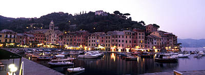 Genoa Photograph - Boats At A Harbor, Portofino, Genoa by Panoramic Images