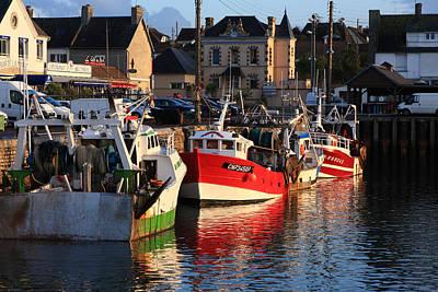 Boats At The Dock Print by Aidan Moran
