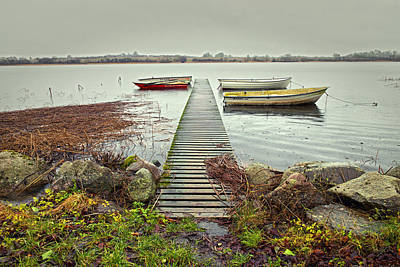 Holiday Photograph - Boats By The Pier by Mike Santis