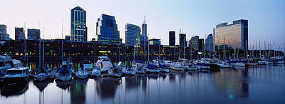 Buenos Aires Photograph - Boats Docked At A Harbor, Puerto by Panoramic Images