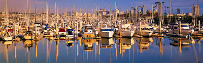 Panoramic Of San Diego Photograph - Boats Docked At San Diego,ca Marina by Panoramic Images