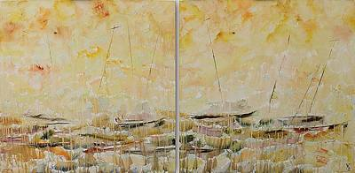 Dyptich Painting - Boats. Dyptich by Alexander Ganelin