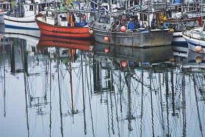 Water Vessels Photograph - Boats In A Harbor On Vancouver Island by Randall Nyhof
