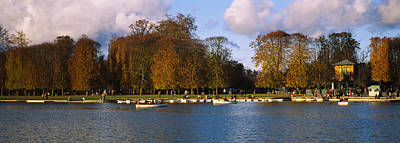 Boats In A Lake, Chateau De Versailles Print by Panoramic Images