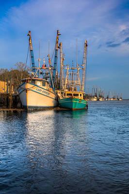 Lady Ga Ga Photograph - Boats In Blue by Debra and Dave Vanderlaan