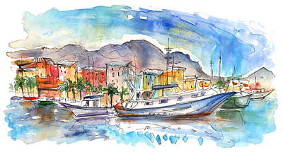 Boats In Porticello 04 Print by Miki De Goodaboom