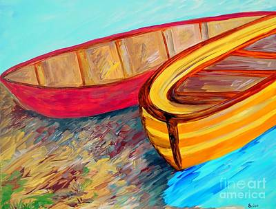 Boats In Waiting Print by Eloise Schneider