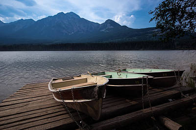 Canadian Rockies Photograph - Boats On Pyramid Lake by Cale Best