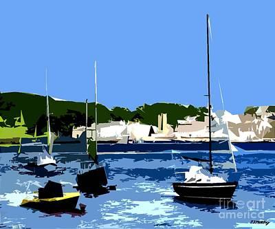 Boats On Strangford Lough Print by Patrick J Murphy