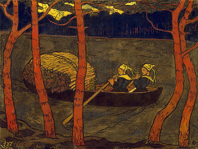 Georges Lacombe Painting - Boatwomen In Brittany by Georges Lacombe