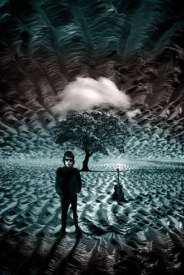 Bob Dylan Digital Art - Bob Dylan A Hard Rain's A-gonna Fall by Mal Bray