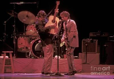 Bob Dylan Photograph - Bob Dylan And Rick Danko by Front Row  Photographs