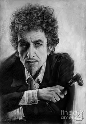 Andre Drawing - Bob Dylan by Andre Koekemoer